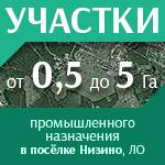 Участки, Ленобласть, Низино, от 0,5 ГА